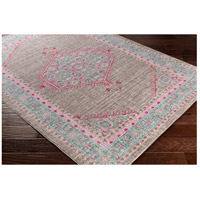 41ELIZABETH 52522-TP Ayland 94 X 34 inch Teal/Taupe/Bright Pink Rugs, Polyester ger2315_corner.jpg thumb