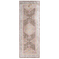 41ELIZABETH 52528-BP Ayland 34 X 24 inch Bright Pink/Dark Brown/Taupe/Bright Yellow Rugs, Polyester thumb