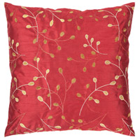 41ELIZABETH 56428-BR Auburn 18 X 18 inch Bright Red/Camel/Cream/Mustard Pillow Kit hh093.jpg thumb