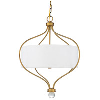41ELIZABETH 47638-W Dean 3 Light 24 inch White Pendant Ceiling Light