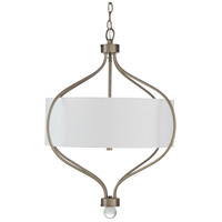 41ELIZABETH 47639-W Dean 3 Light 24 inch White Pendant Ceiling Light