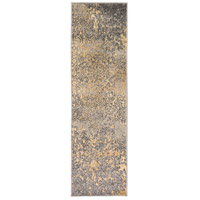 41ELIZABETH 55437-MG Adora 91 X 26 inch Medium Gray/Khaki/Charcoal/Beige Rugs, Polypropylene thumb