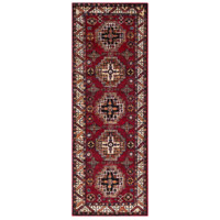 41ELIZABETH 57481-DR Brandon 87 X 31 inch Dark Red/Black/Ivory/Bright Orange/Tan/Lime Rugs, Polypropylene thumb
