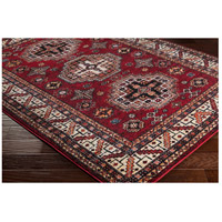 41ELIZABETH 57481-DR Brandon 87 X 31 inch Dark Red/Black/Ivory/Bright Orange/Tan/Lime Rugs, Polypropylene srp1007_corner.jpg thumb