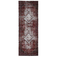 41ELIZABETH 57488-MG Brandon 87 X 31 inch Medium Gray/Black/Ivory/Dark Red/Tan Rugs, Polypropylene thumb