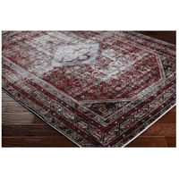 41ELIZABETH 57488-MG Brandon 87 X 31 inch Medium Gray/Black/Ivory/Dark Red/Tan Rugs, Polypropylene srp1009_corner.jpg thumb