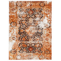 41ELIZABETH 57511-BO Brandon 87 X 63 inch Bright Orange/Black/Ivory/Dark Red/Medium Gray Rugs, Rectangle thumb
