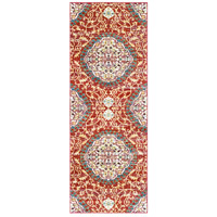 41ELIZABETH 57545-DR Brandon 67 X 47 inch Dark Red/Bright Orange/Ivory/Bright Yellow Rugs, Rectangle thumb