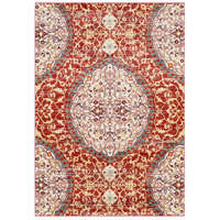 41ELIZABETH 57546-DR Brandon 87 X 63 inch Dark Red/Bright Orange/Ivory/Bright Yellow Rugs, Rectangle thumb