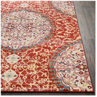 41ELIZABETH 57546-DR Brandon 87 X 63 inch Dark Red/Bright Orange/Ivory/Bright Yellow Rugs, Rectangle srp1021-front.jpg thumb