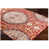 41ELIZABETH 57546-DR Brandon 87 X 63 inch Dark Red/Bright Orange/Ivory/Bright Yellow Rugs, Rectangle srp1021_corner.jpg thumb