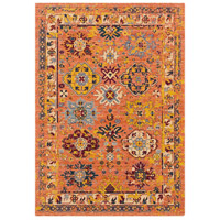 41ELIZABETH 57884-BO Brea 33 X 24 inch Bright Orange/Medium Gray/Wheat/Denim/Dark Red Rugs, Rectangle thumb