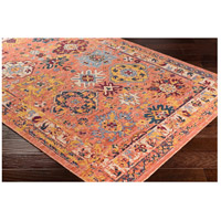 41ELIZABETH 57884-BO Brea 33 X 24 inch Bright Orange/Medium Gray/Wheat/Denim/Dark Red Rugs, Rectangle tzr1001_corner.jpg thumb