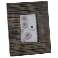 Striped Horn Picture Frame
