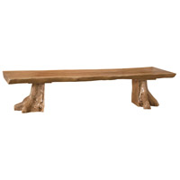 Teak Slab Outdoor Bench