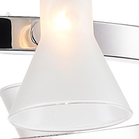 Golden Lighting Ceight Two Ch Fr Kim  Inch Chrome Chandelier Ceiling Light In Frosted Glass