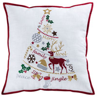 Holiday Tidings Decorative Pillow