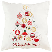 Glided Christmas Tree Decorative Pillow