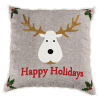 Happy Holidays Decorative Pillow
