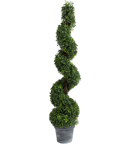 A&B Home 29287 Spiral Boxwood Green Faux Botanical photo