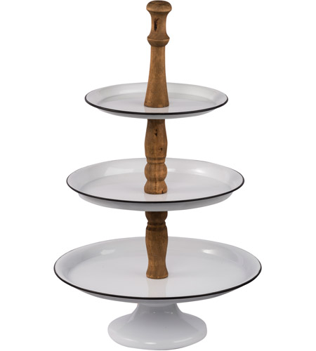 A B Home 44182 Three Tier White And