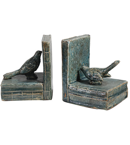 A&B Home 69161 Sophronia 5 inch Antique Blue and Gray Bookends photo