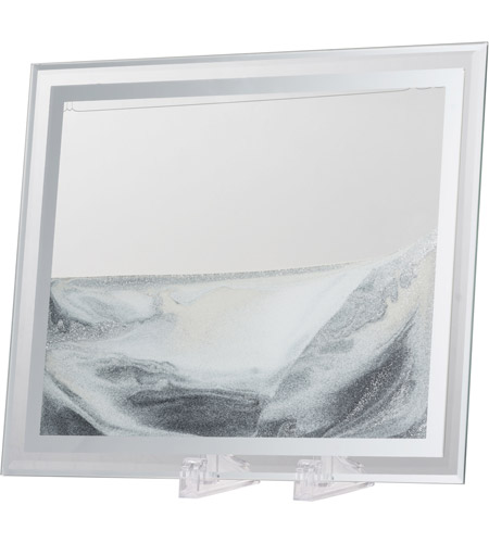 A B Home 76765 Moving Black White Silver Clear Accent Decor