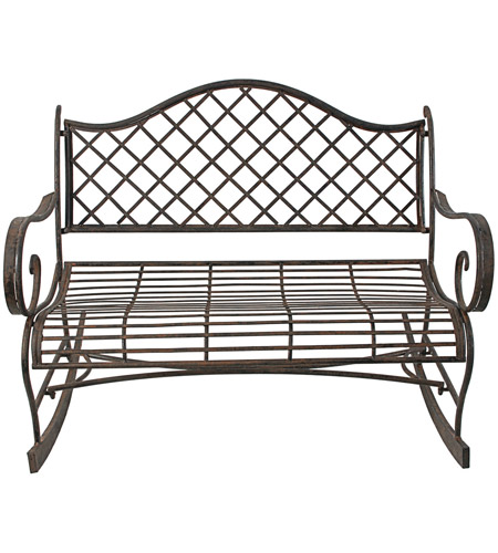 Magnificent Ab Home D36483 Lillian Bronze Bench Bralicious Painted Fabric Chair Ideas Braliciousco