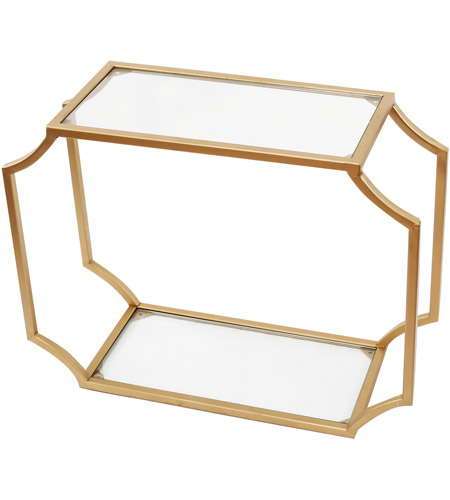A&B Home KIF39739 City Chic 21 inch Gold Wall Shelf photo