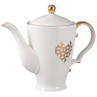 Amore White and Gold Teapot