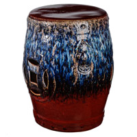 Tove 18 inch Blue and Red Stool
