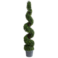 Spiral Boxwood Green Faux Botanical