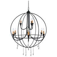 A&B Home 31557 Ballard 32 inch Satin Black Chandelier Ceiling Light
