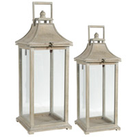 Ivona 21 X 8 inch White Patio Candle Lanterns, Set of 2