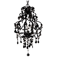 A&B Home 33217-BLAC Elizavetta 13 inch Black Chandelier Ceiling Light