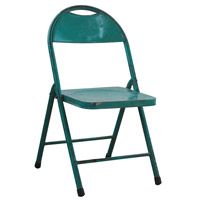 A&B Home 36120-GREE Antique Distressed Green Folding Chair