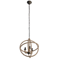 A&B Home 36406 Cade 19 inch Taupe Chandelier Ceiling Light
