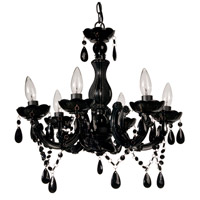 A&B Home 36806 Six-Arm 19 inch Black Chandelier Ceiling Light
