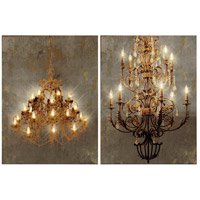 A&B Home 36901 Grand 24 inch Gold Chandelier Ceiling Light Set of 2