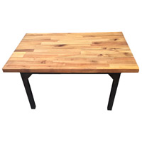 A&B Home 39255 Acacia 40 X 1 inch Natural and Black Cocktail Table