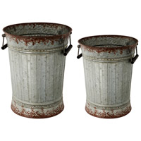 A&B Home 39692 Metal Silver and Rust Table Top Décor, Set of 2