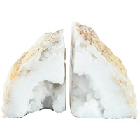 Natural 4 inch White Bookends