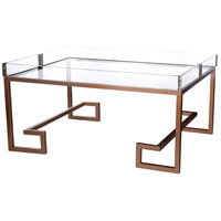 A&B Home 40320 Glass 40 X 20 inch Gold Coffee Table