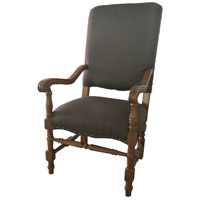 Alba Black Arm Chair