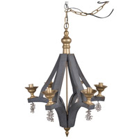 A&B Home 41086 Calder 21 inch Gray and Gold Chandelier Ceiling Light