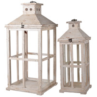 Reed 25 X 12 inch White Patio Candle Lanterns, Set of 2