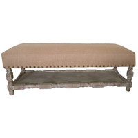 Madeline Washed Gray Bench