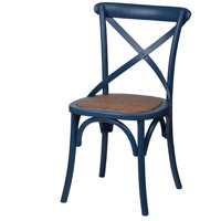 Ebury Dark Brown and Black Brush Bistro Chair