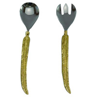 Enchanted Silver and Gold Salad Servers, Set of 2