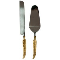 Enchanted Silver and Gold Cake Server Set, Set of 2